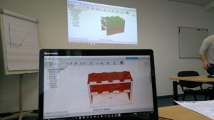 3D-Simulation aus dem 3D-Druck-Workshop