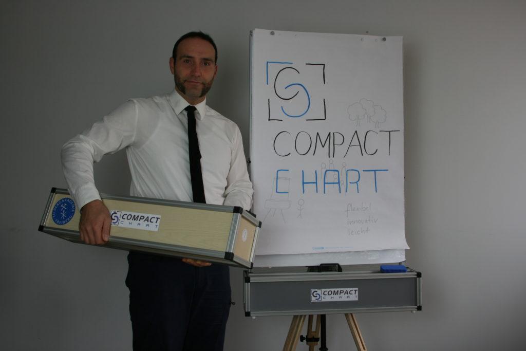 Der Erfinder Sanny Reich mit seinen aktuellen Prototypen des CompactChart