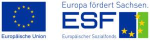 Logo ESF - Europa fördert Sachsen