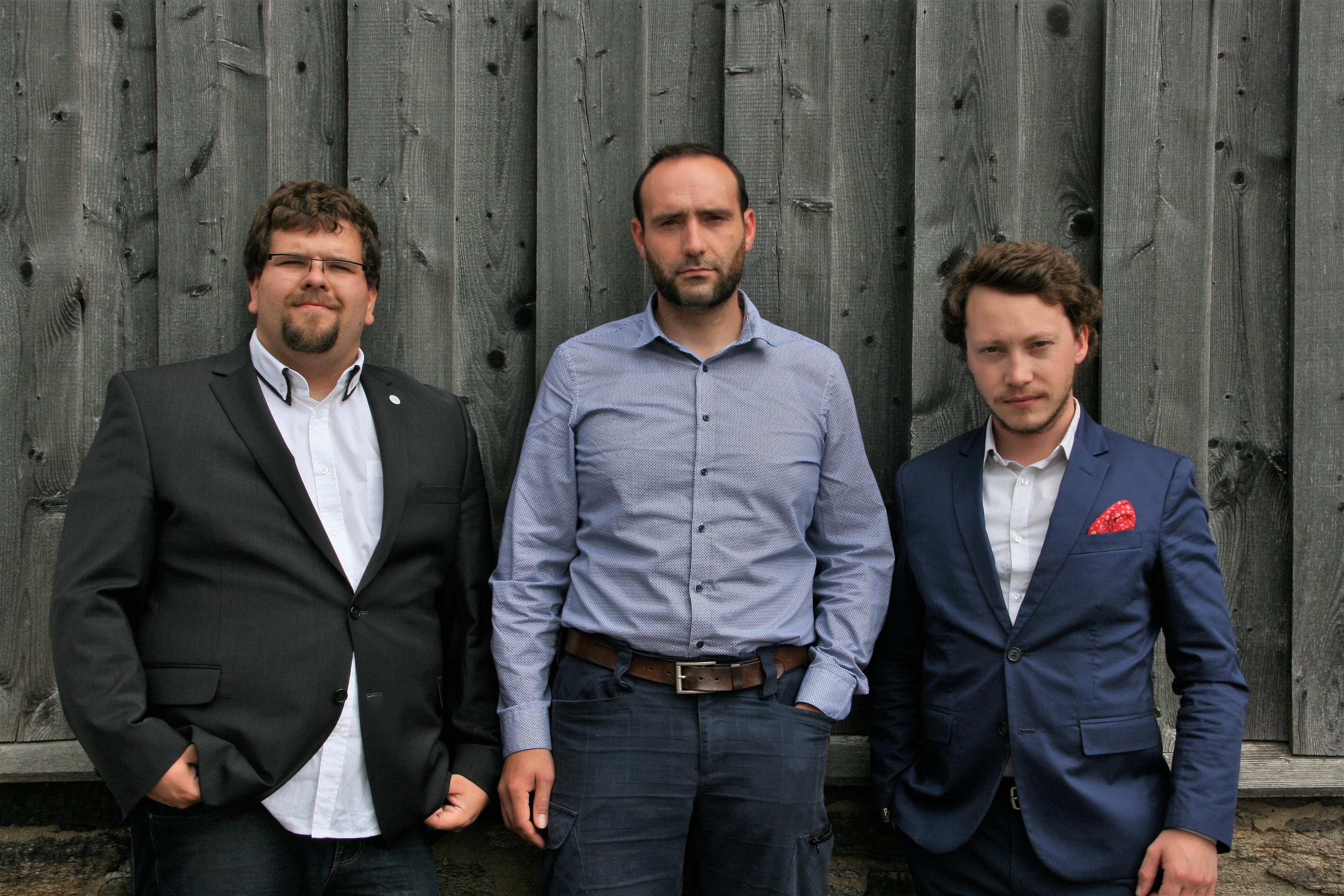 Das EXIST-Team (v.l.n.r: Tobias Prüfer, Sanny Reich, Marwin Gaube)